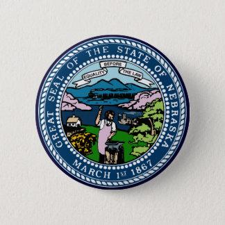 Nebraska State Seal 6 Cm Round Badge