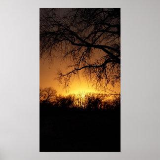 Nebraska Summer Sunset Poster