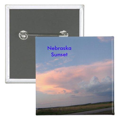 Nebraska Sunset Button