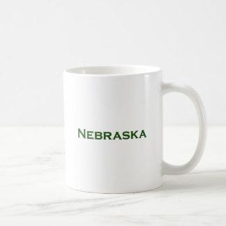 Nebraska Text Logo (Green) Mug
