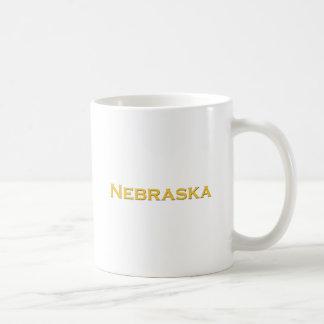 Nebraska Text Logo (Yellow) Coffee Mugs