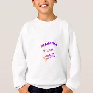 Nebraska USA world country,  colorful text art Sweatshirt