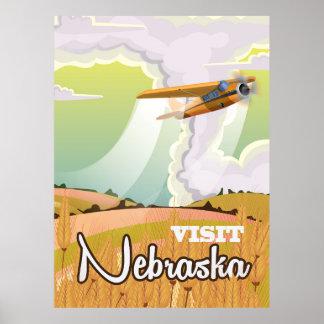 Nebraska vintage travel poster