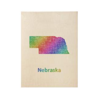 Nebraska Wood Poster