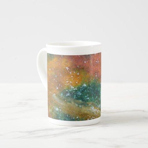 Nebula and Planets. Bone China Mug