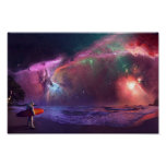 Nebula Astronaut Poster