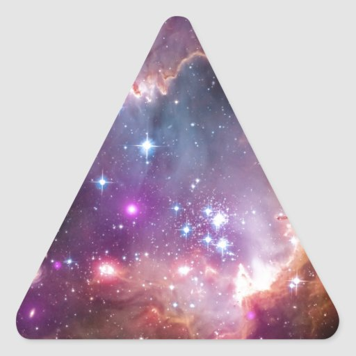 Nebula bright space stars galaxy hipster geek cool triangle stickers