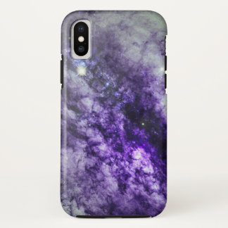 Nebula in Purple iPhone X Case
