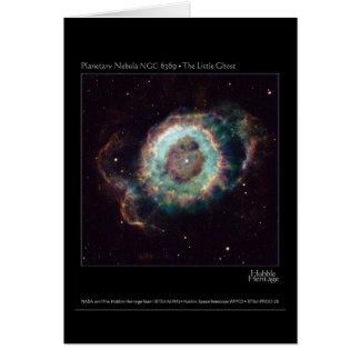 Nebula NGC 6369 The Little Ghost Hubble Telescope Card