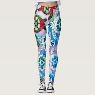 Nebula Sea Turtle Dance Leggings