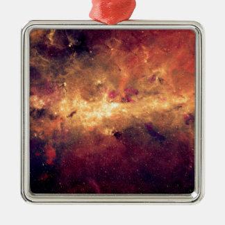 Nebula Silver-Colored Square Decoration