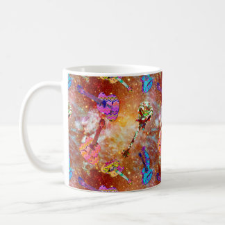 NEBULA SPACE GUITAR COPPER SKY COFFEE MUG