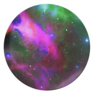 Nebula Space Photo Plate