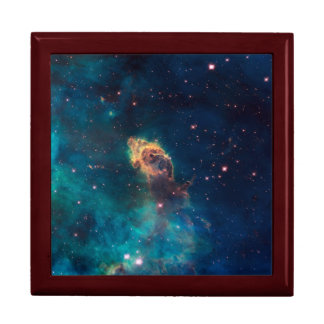 Nebulae Photo by Hubble Telescope Large Square Gift Box