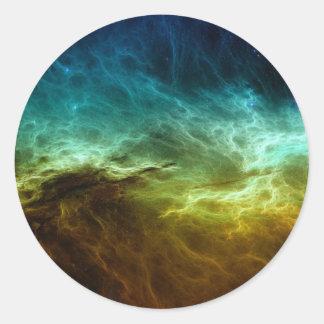 Nebular seal round sticker