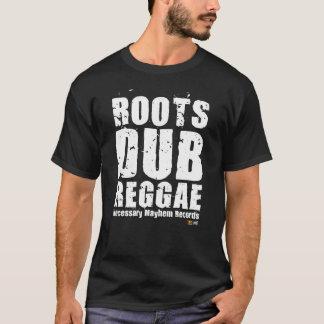 Necessary Mayhem Roots Dub White Text T-shirt