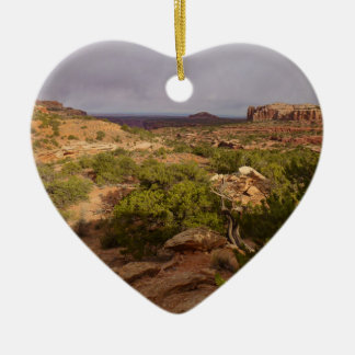 Neck Springs Trail at Canyonlands National Park Ceramic Heart Decoration