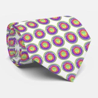 Neck Tie Fashion Couture Rainbow Circle Round Hole