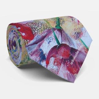 neck tie floral print