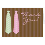 """Neck Tie Gay Wedding """"Thank You"""" Stationery Note Card"""