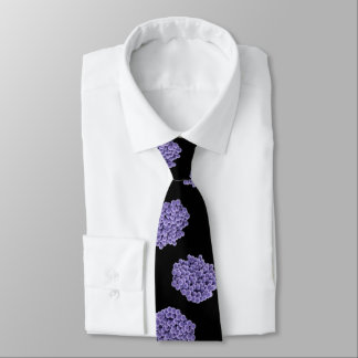 Neck Tie - MRSA (violet on black background)
