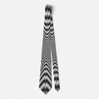 Neck Tie  Super Nova in Black and White