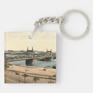 Neckar Bridge, Mannheim, Germany Key Ring