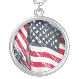 Necklace American Flag