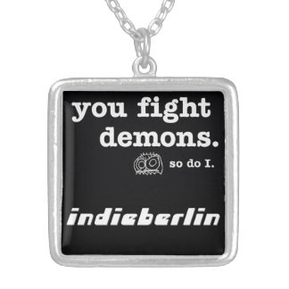 necklace, Amulet, indieberlin Silver Plated Necklace