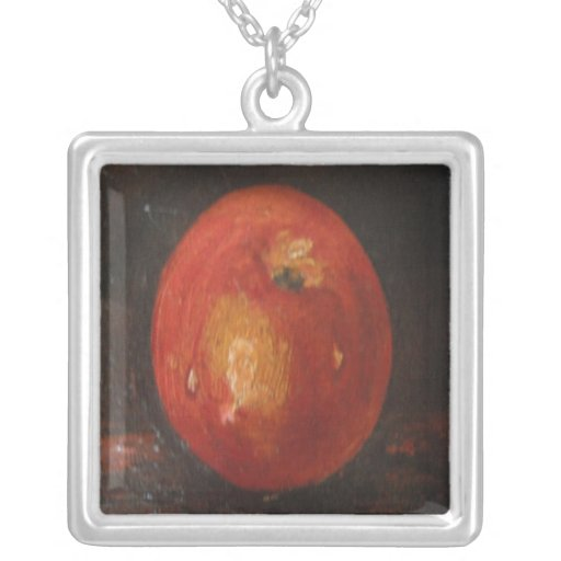 Necklace Ann Hayes Painting Apple