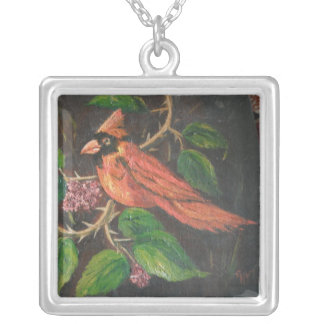 Necklace Ann Hayes Painting Cardinal