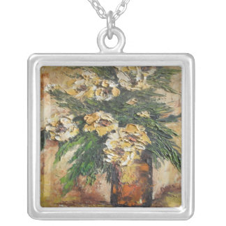 Necklace Ann Hayes Painting Yellow Flowers in Vase