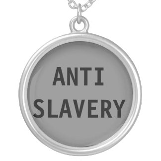 Necklace Anti Slavery Grey
