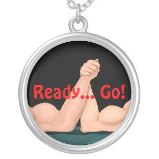 Necklace Arm Wrestling arm-wrestler s Ready Go