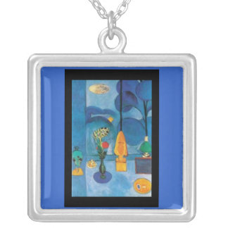 Necklace-Classic Art-Matisse-The Blue Window Silver Plated Necklace