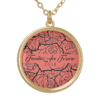 Necklace Coral Roses in Gold-Families Are Forever