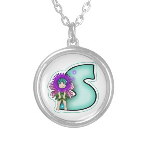Necklace Cute Fairy Initial Leter S