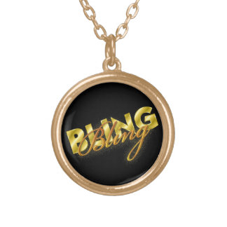 """Necklace flashy design of """"Bling"""" in type"""