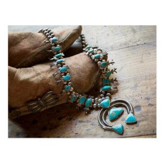 Necklace for sale, Santa Fe, New Mexico. USA Postcard