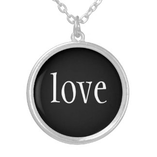 Necklace-Love Silver Plated Necklace