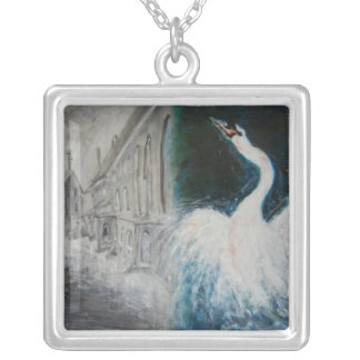 "Necklace - Oil Painting ""In Distant Country"""
