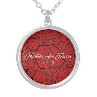 Necklace Red Black Roses-Familes Are Forever