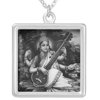 Necklace- Saraswati-Benten Silver Plated Necklace