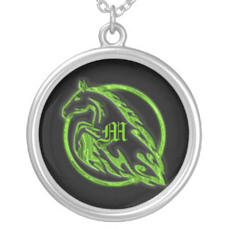 Necklace Template - Embossed Metal Horse