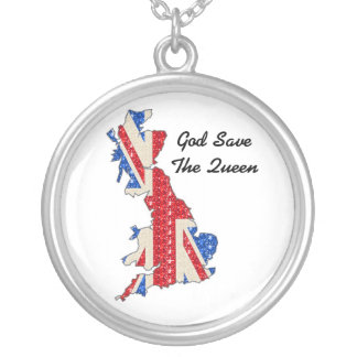Necklace UK Flag God Save The Queen
