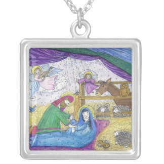 necklace: Virgin Mary Silver Plated Necklace
