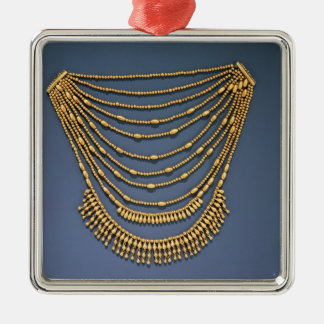 Necklace with bells Silver-Colored square decoration