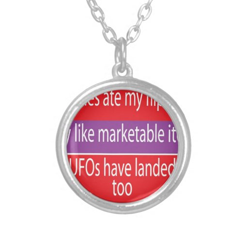 Necklace with Humorous Text Design