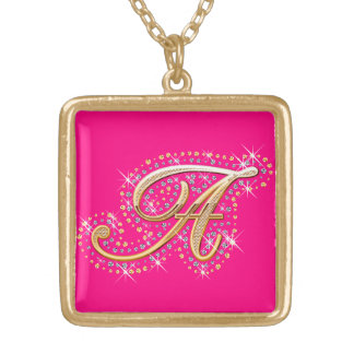 Necklace with Initial A