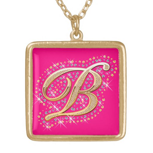 Necklace with Initial B